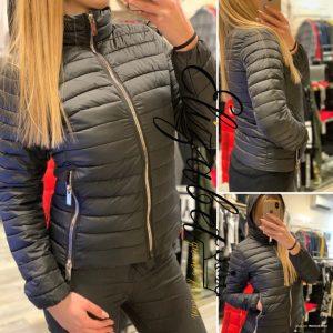Дамско черно шушляково яке