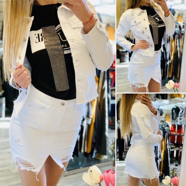 Бяло дънково пролетно яке-min