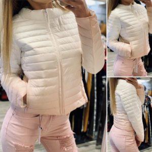 Преливащо шушляково яке в бяло и розово