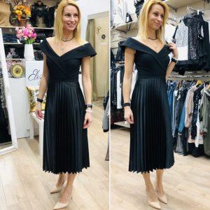 Стилна черна рокля солей