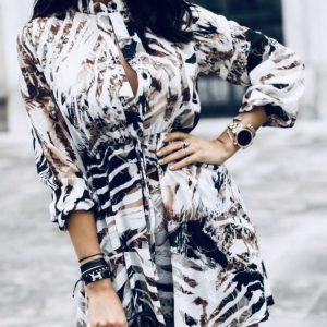 Тюлена риза-рокля с копчета и колан