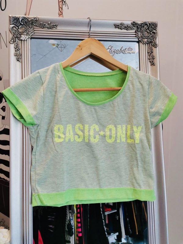 Къса зелена тениска basic лимон elizabet.bg