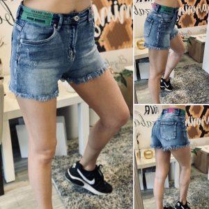 Къси дънкови панталонки с емблеми