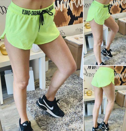 Жълто-зелен неон шорти за фитнес Basic елизабет.бг спорт