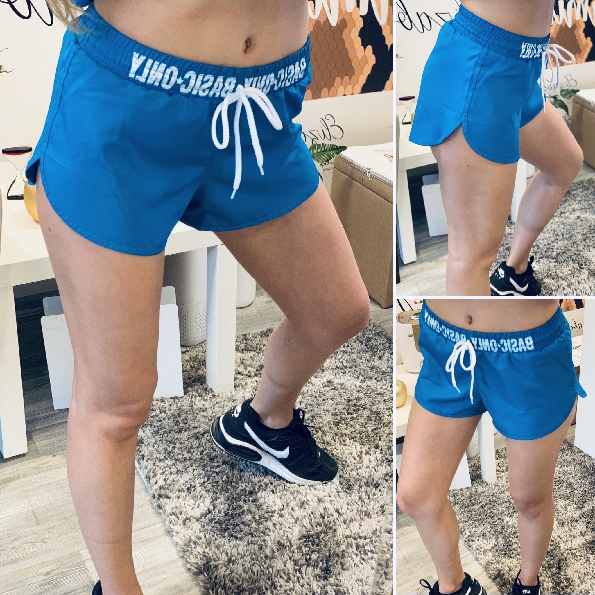 Сини шорти за фитнес Basic елизабет спорт