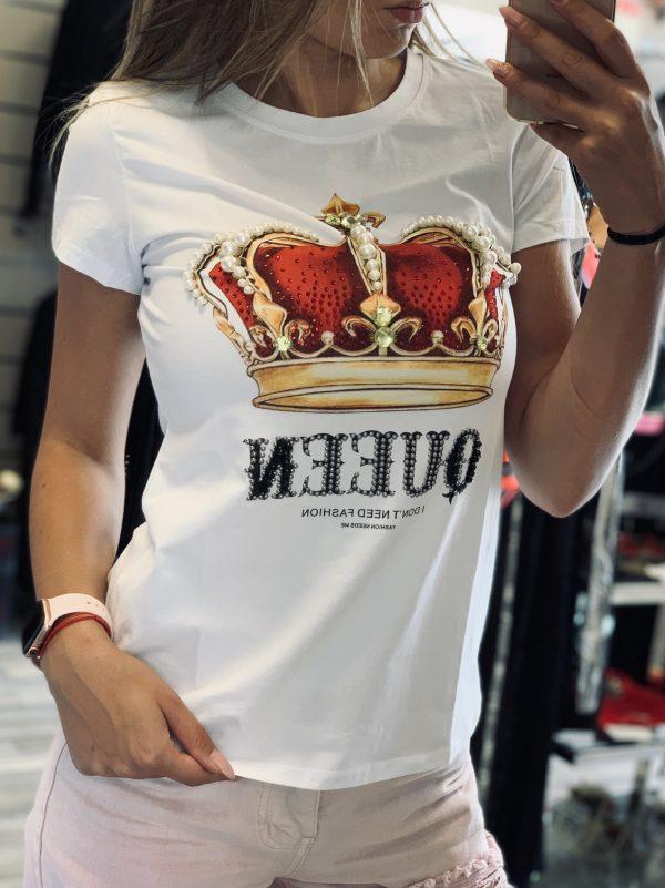 дамски блузи Бяла тениска Red Crown elizabet.bg