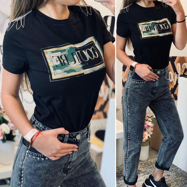 Тениска Couture с пагони elizabet.bg