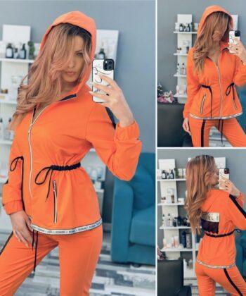 Спортно екипче цвят мандарин Fashion elizabet.bg