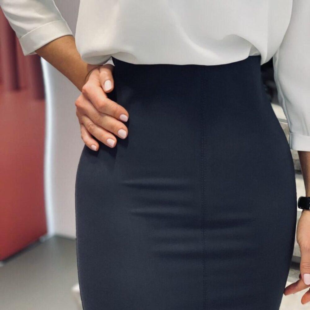 Структурираща пола в черно елизабет
