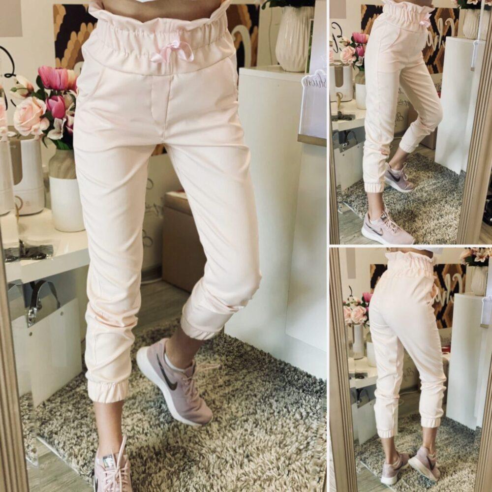 Панталон с висока талия в Baby Pink elizabet.bg
