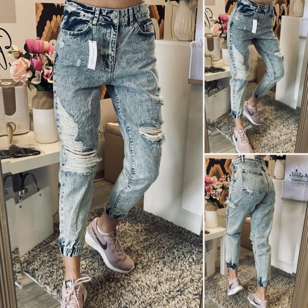 Светъл деним Mommy Jeans elizabet.bg