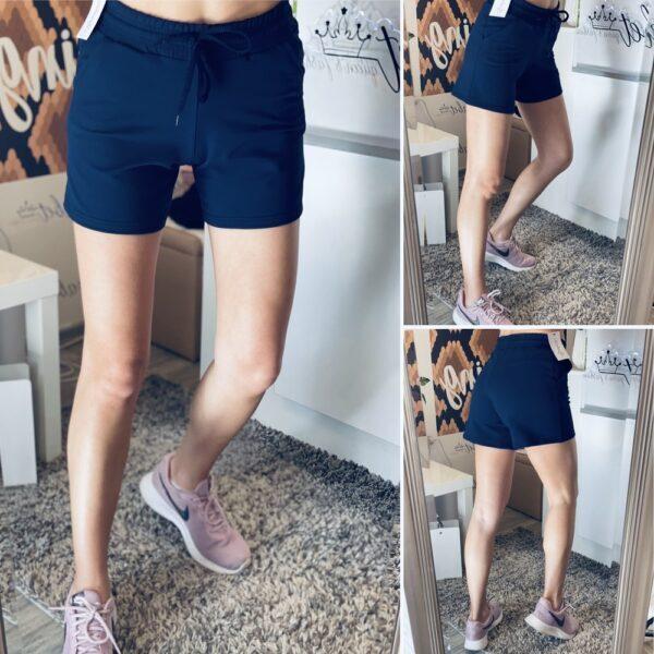 Къси памучни панталони в тъмно синьо elizabet.bg