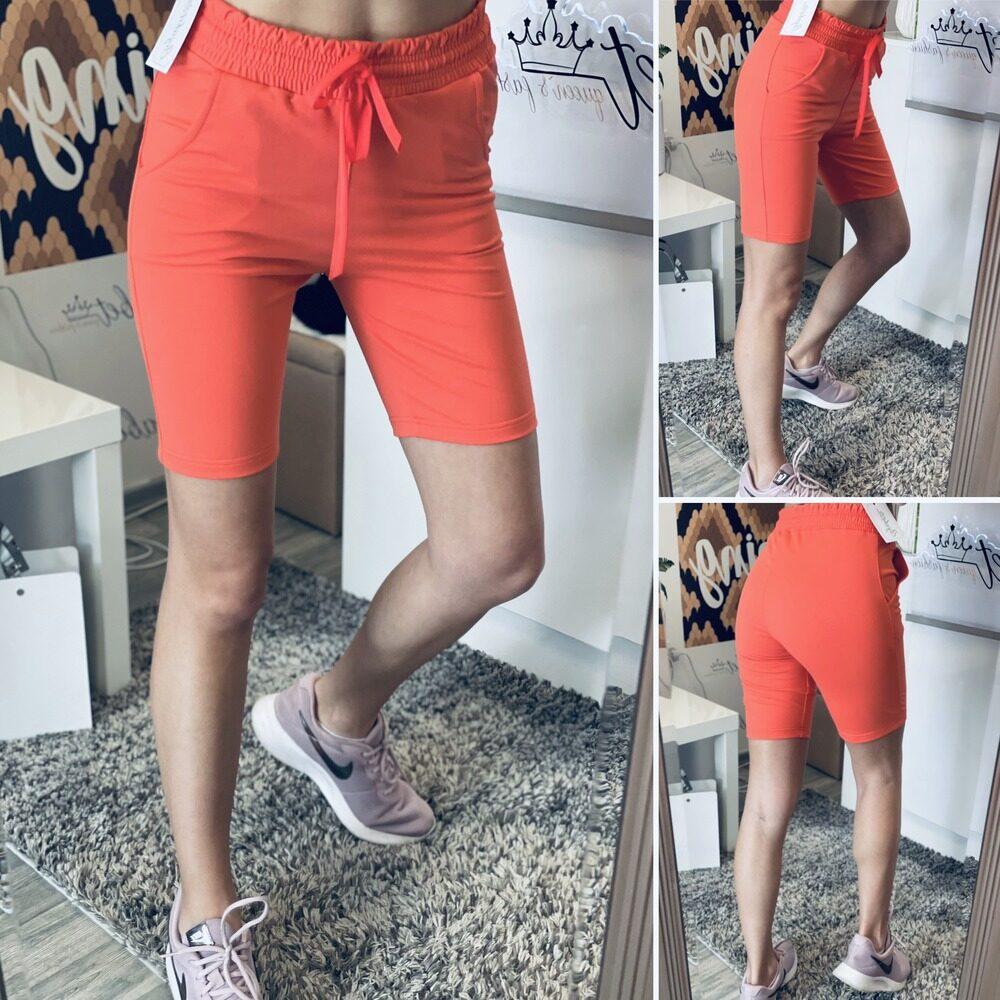 Къси 3/4 памучни панталони в оранжево elizabet