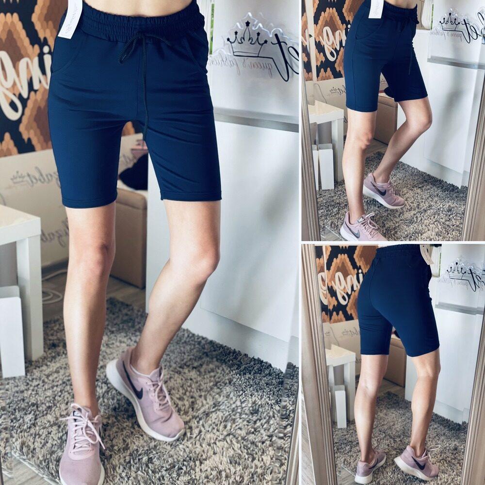Къси 3/4 памучни панталони в тъмно синьо elizabet.bg