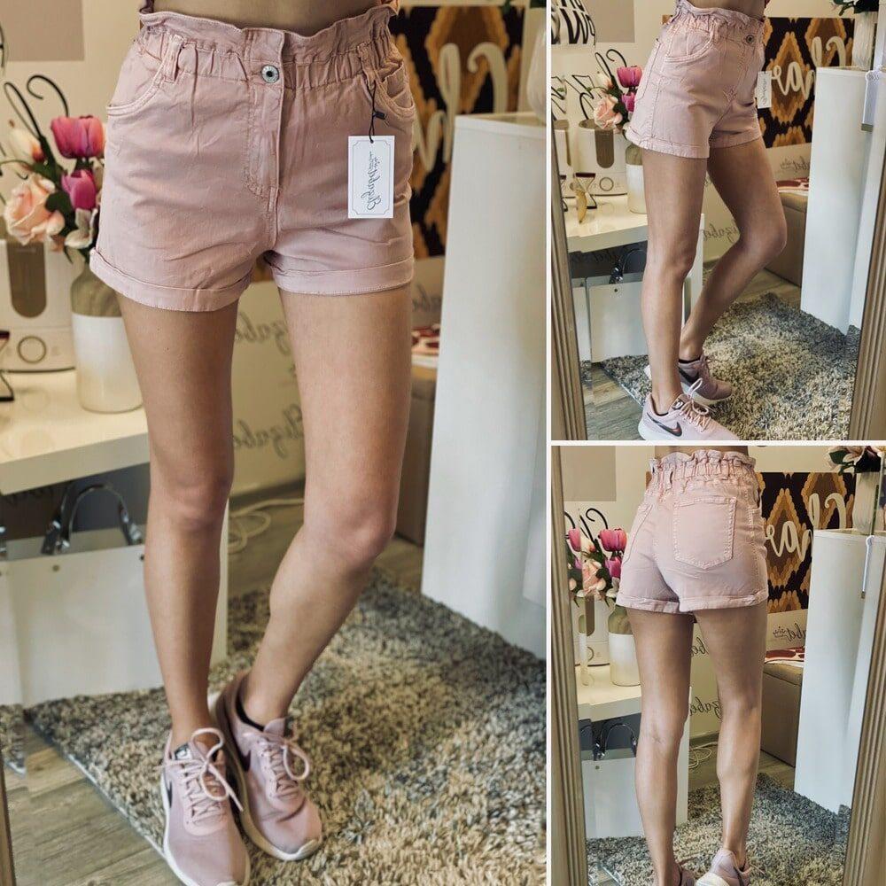 Къси розови панталони High Waist elizabet.bg