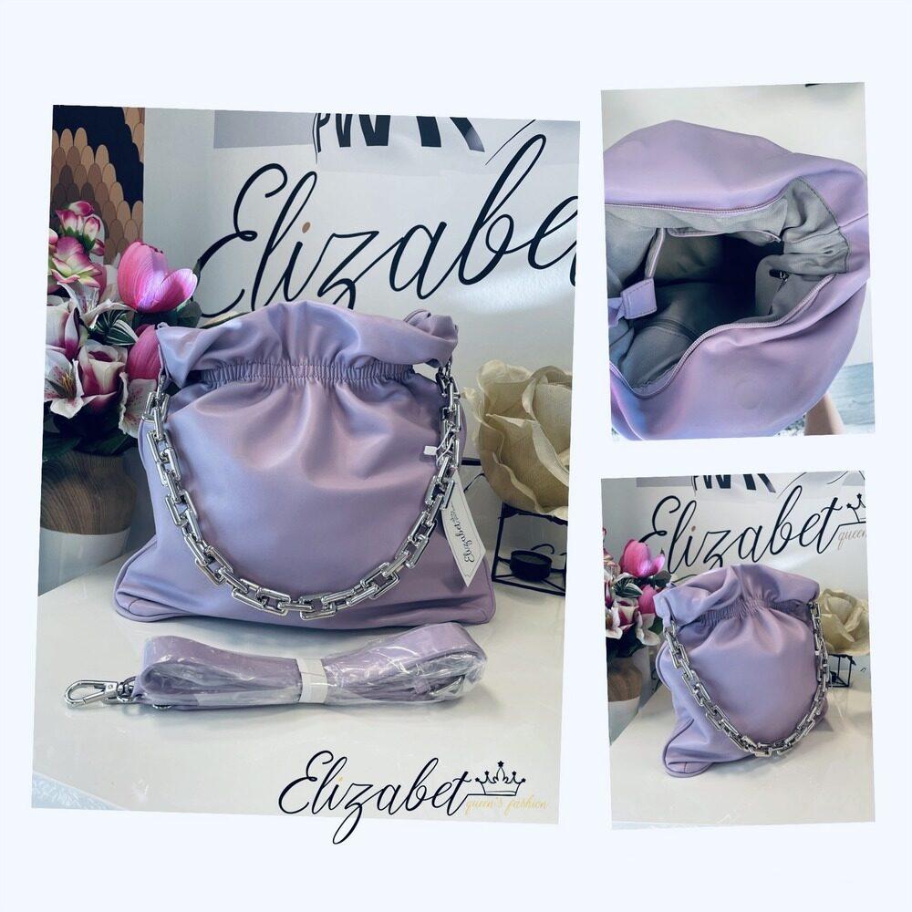 Бонбонена чанта в лилаво elizabet