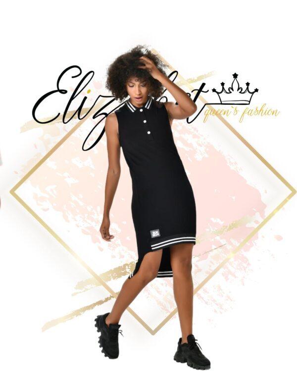 Спортна памучна рокля с якичка елизабет фешън