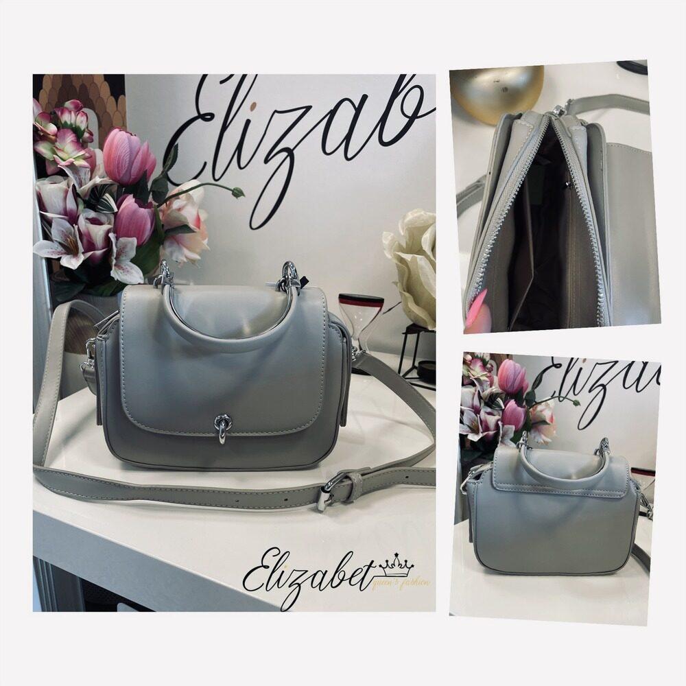 Стилна чанта в сиво елизабет онлайн