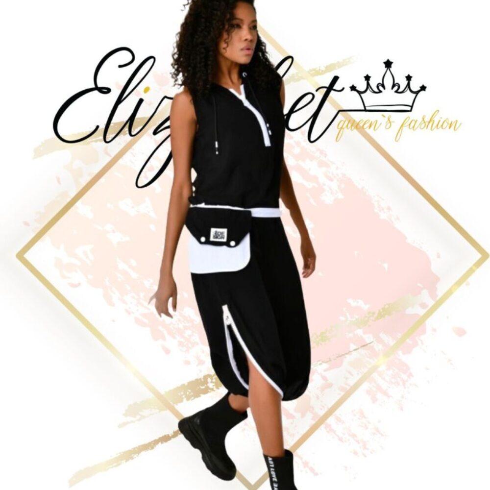Рокля пола-панталон Black & White elizabet fashion